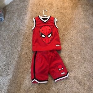 Spider-Man jersey outfit